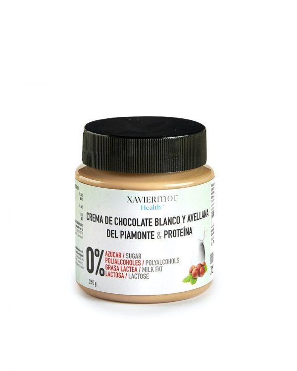 Crema blanca con avellanas sin azúcares añadidos