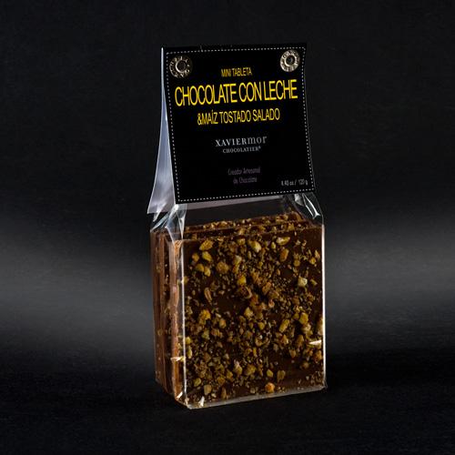 mini tableta chocolate con leche y maiz